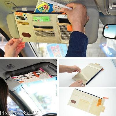 Sun Visor Car Organizer Tempat Uang Kartu ATM hp & karcis mobil