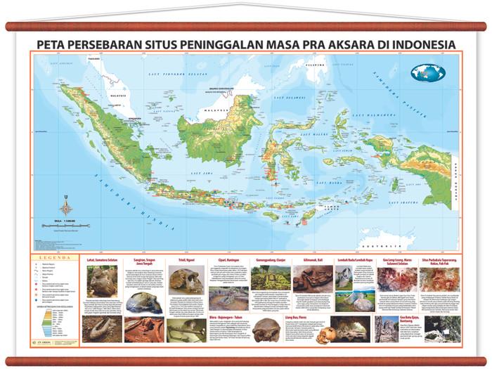 Jual Peta Persebaran Situs Peninggalan Masa Pra Aksara Di Indonesia Kab Sidoarjo Cv Orion Tokopedia