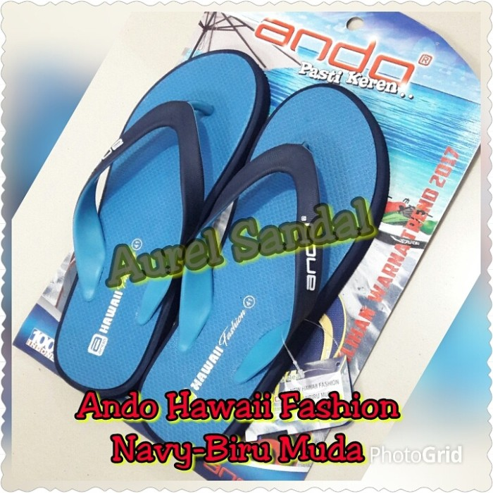 harga Sandal ando hawaii fashion navy biru muda Tokopedia.com