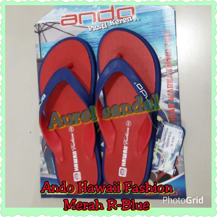 harga Sandal ando hawaii fashion merah r-blue Tokopedia.com