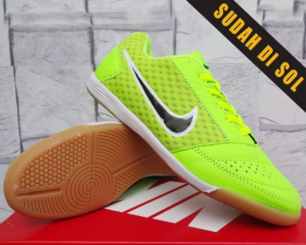 outlet store 70301 a2e7c sepatu futsal olahraga murah Nike Lunar Gato Hijau Kw Super
