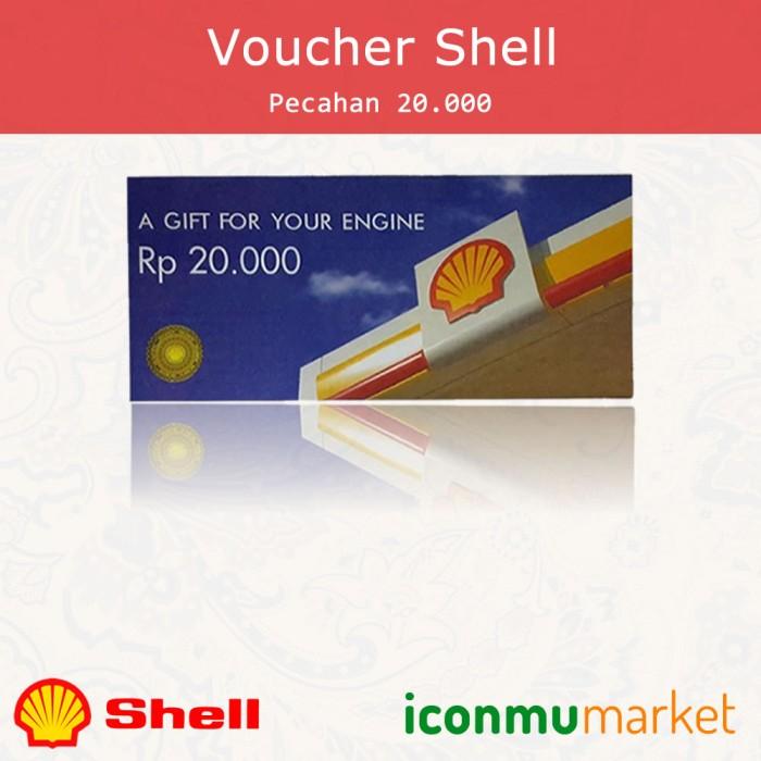 Voucher Shell Rp. 20.000 - Voucher Fisik Pecahan 20000