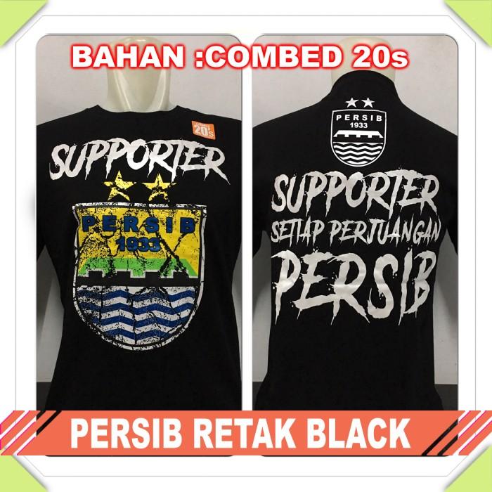 harga Kaos Baju Distro Bola - Persib Bandung Logo Retak Combed Tokopedia.com