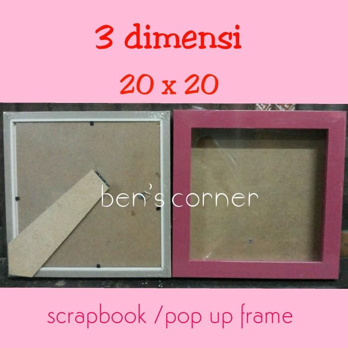 harga Frame foto/bingkai foto 3 dimensi uk.20x20 / scrap book /pop up frame Tokopedia.com