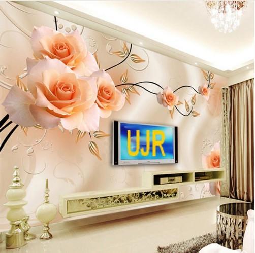 Jual Wallpaper Dinding Model Bunga Roses Untuk Ruang Tamu Kota Pontianak Usaha Jaya Raya Tokopedia