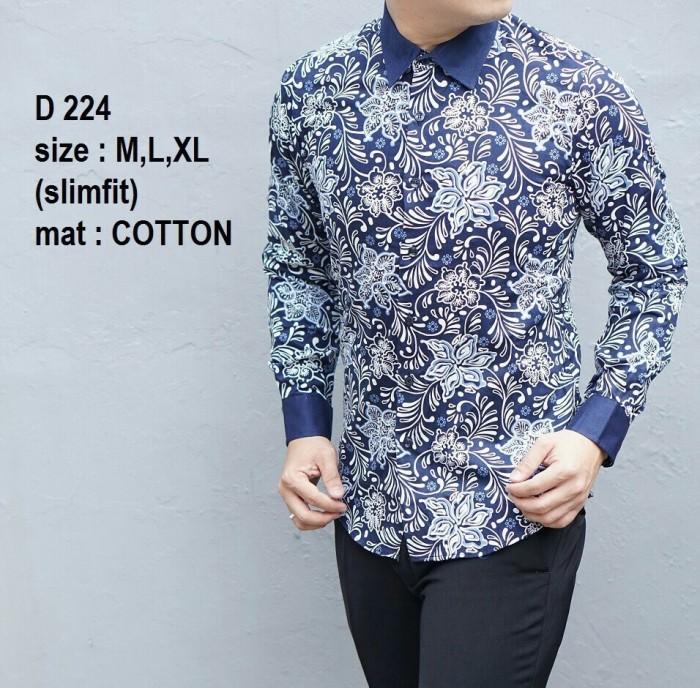 harga Baju batik pria terbaru slim fit kemeja d 224 Tokopedia.com