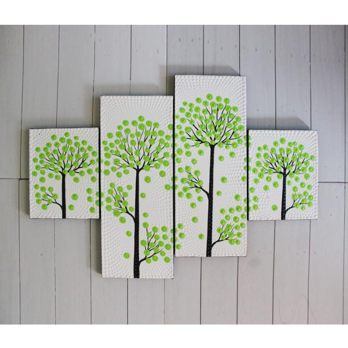harga Lukisan dekoratif ( titik ) ranting bunga hijau Tokopedia.com