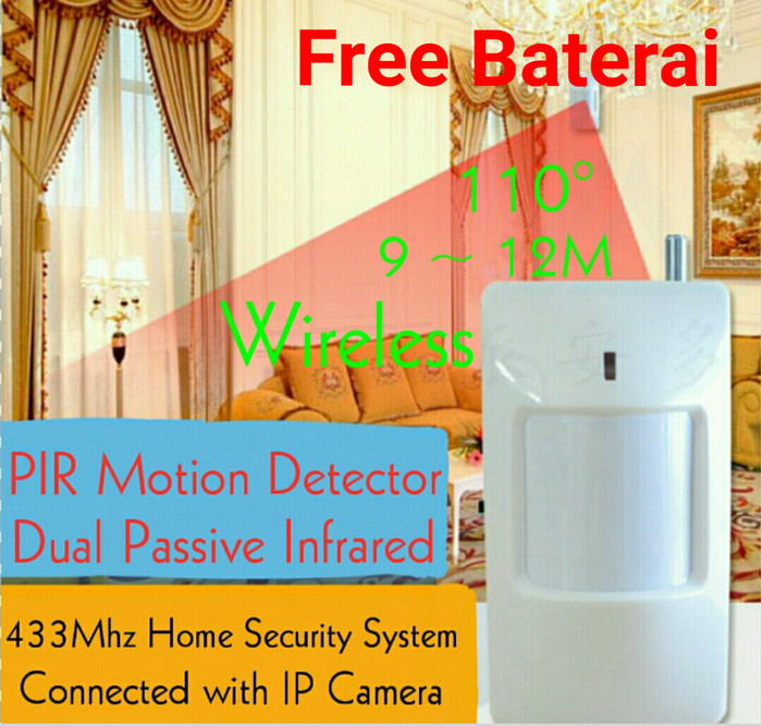 harga Pir motion detector wireless 433mhz home security system Tokopedia.com