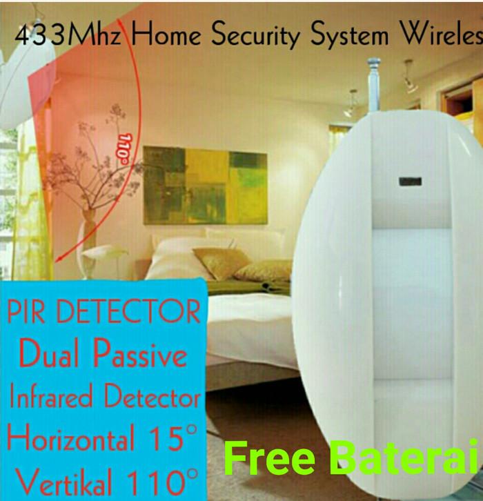 harga Pir detector dual passive infrared curtain 433mhz home security system Tokopedia.com