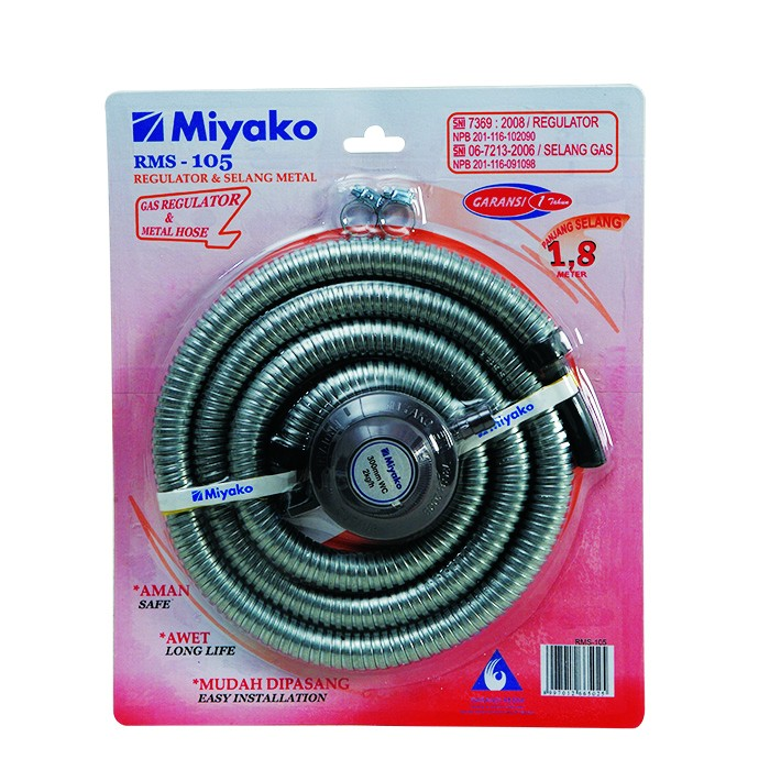 Miyako selang + regulator rms105 rms 105
