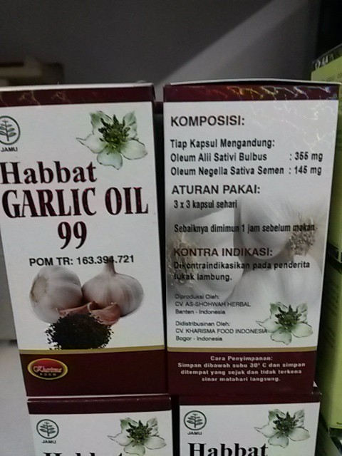 HABBAT GARLIC OIL 99 Original@200 Kapsul