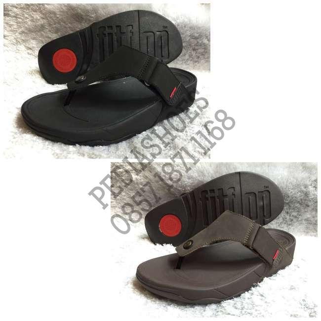 (garansi termurah) sandal jepit pria fitflop trakk ii man