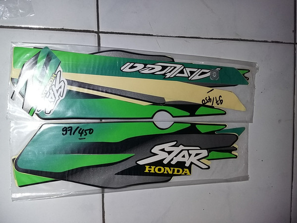Jual Striping Sticker Lis Motor Standar Astrea Star 1997 Hijau