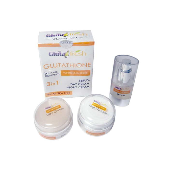 Gluta Fresh Gluthatione Whitening Series / Cream Wajah dan Serum 3In
