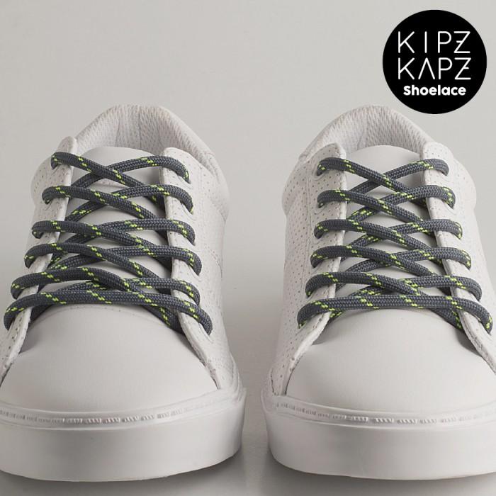 Kipzkapz shoelace - tali sepatu bulat / round 4mm - grey green 160cm