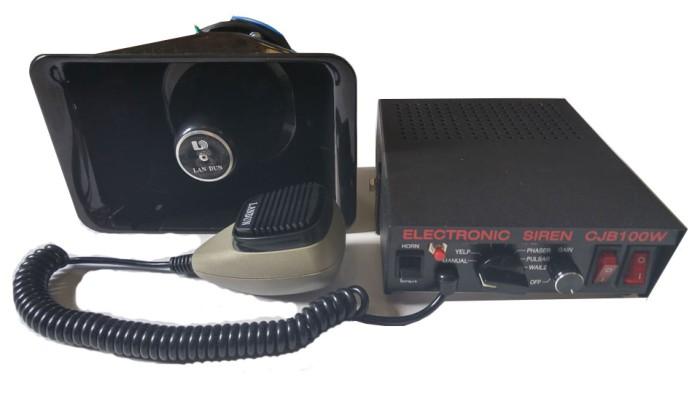 harga Landun sirine polisi / patwal cjb100w modul + speaker 100w Tokopedia.com