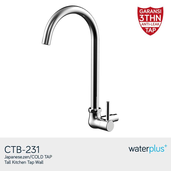 Waterplus+ kran angsa tembok ctb-231