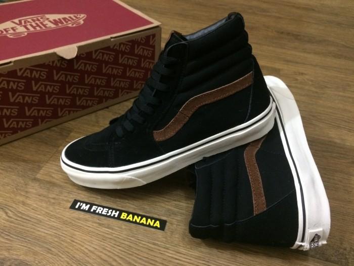Jual Sepatu Vans Sk8 Sk 8 Hi Classic Black - Garis Brown HIgh DT ... f643cc8e7a