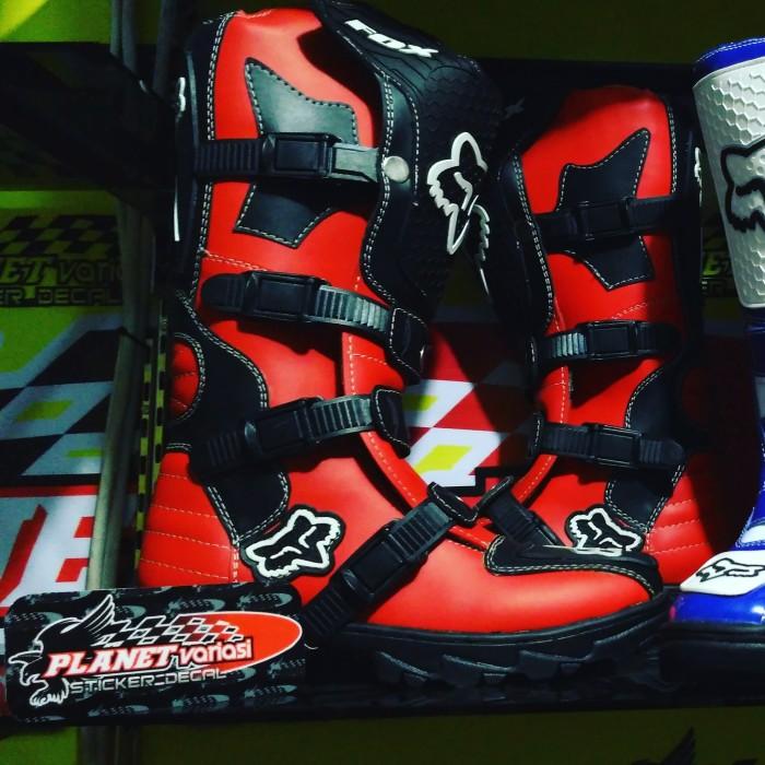 harga Sepatu cross / mx / trail fox lokal merah Tokopedia.com