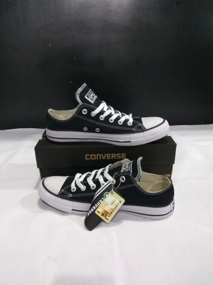 Jual Sepatu Converse All Star Ox pendek Black - Dknsport  380e3b97bb