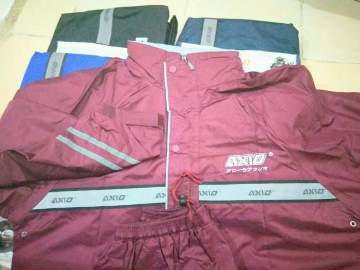 Jas Hujan AXio Europe Silver 882 Raincoat 2016 Original - hitam m