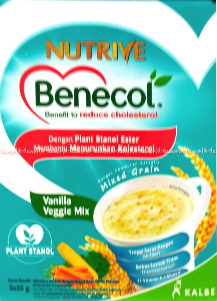harga Nutrive benecol vanilla veggie mix kalbe menurunkan kolesterol Tokopedia.com