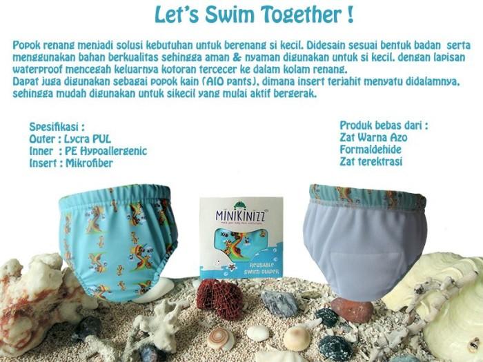 harga Reusable swim diaper / popok renang minikinizz size 4 (berat 22-26kg) Tokopedia.com