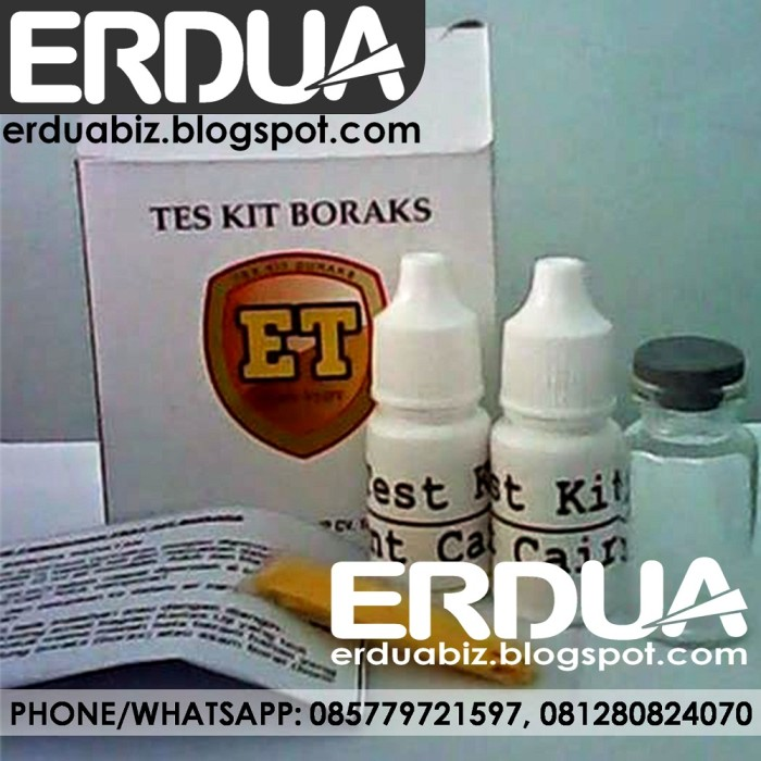 Foto Produk Test Kit Borax Terpopuler dari ERDUA Business
