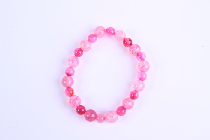 gelang batu natural akik pink