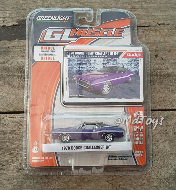 SALE --- Diecast mobil Greenlight 1970 Dodge Challenger R/T