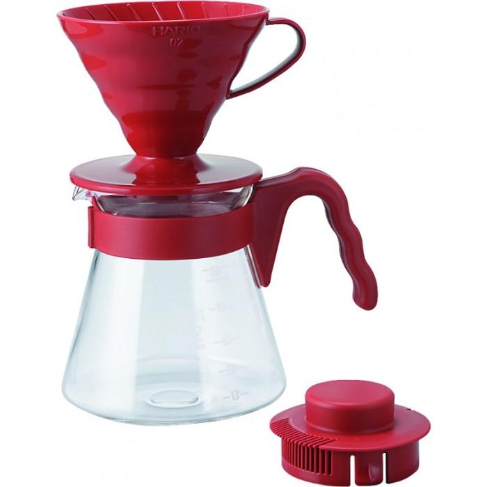 harga Hario v60 coffee server pour over kit 02 - red [ vcsd-02r ] Tokopedia.com