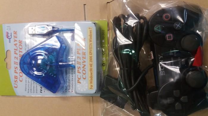 harga Paket hemat 1 stick ps2 ori mesin 1 konverter ps3 - pc - stik ps 2 Tokopedia.com