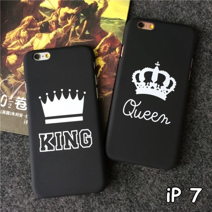 harga For iphone 7 - 4.7 inch luxury couple king queen matte doff hard case Tokopedia.com