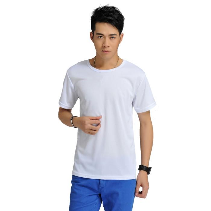 harga Baju olahraga mesh pria o neck size m - 85301 / t-shirt - white Tokopedia.com