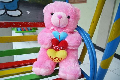 harga Boneka teddy bear pita love pink 50cm sni Tokopedia.com