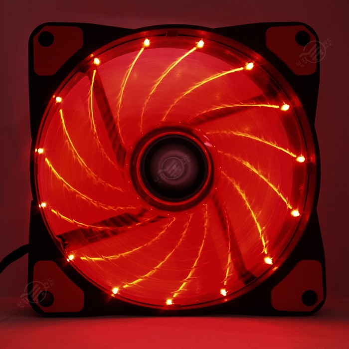 digital alliance orkaan 12 led merah fan case