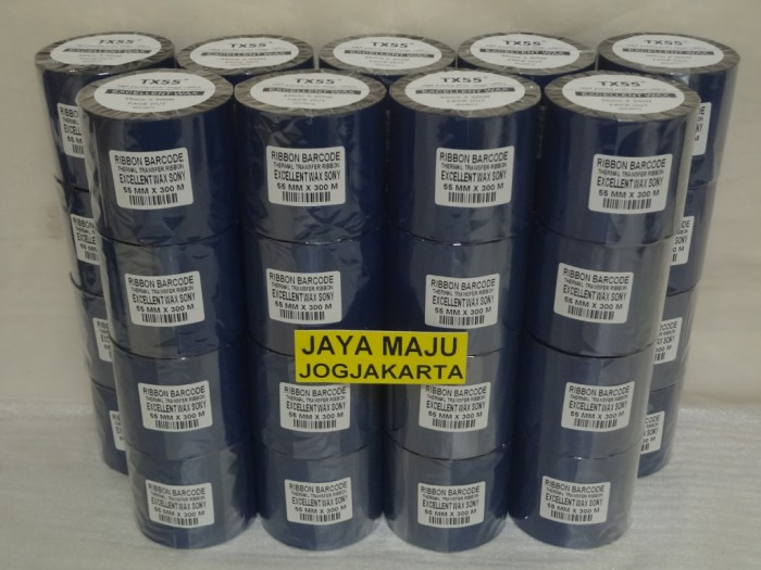 harga Ribbon barcode sony excellent wax tx55 55 mm x 300 m core 1  (f/o) Tokopedia.com