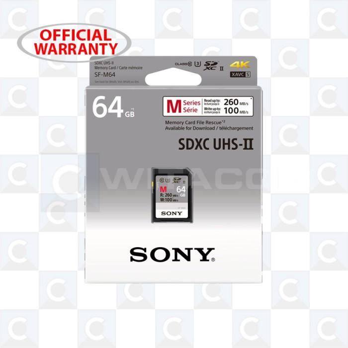 harga Sony sf-m64 sdxc 64gb r260mb/s w100mb/s class 10 uhs-ii u3 Tokopedia.com