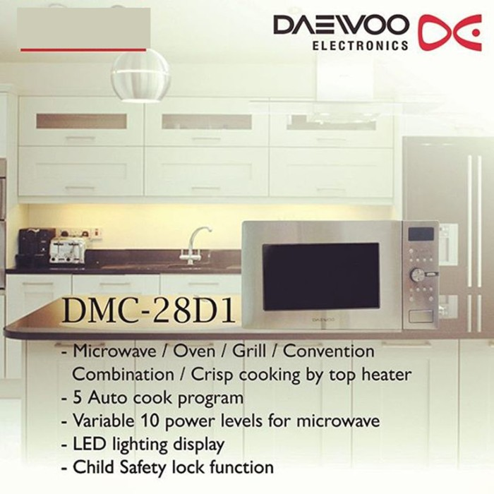 Daewoo Microwave Oven DMC28D1 Silver