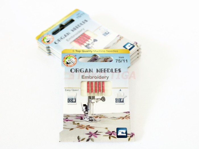 harga Organ needles embroidery - jarum jahit bordir (mesin jahit) Tokopedia.com