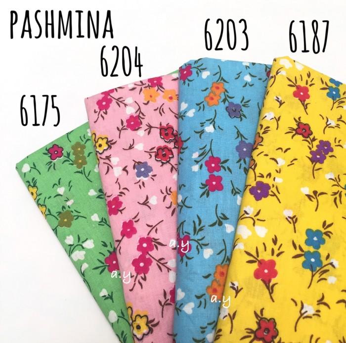 Pashmina jilbab kerudung motif bunga shabby chic flower pastel