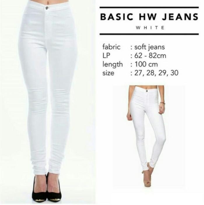 Jual Celana Putih Hw Celana Soft Jeans Panjang Legging Kota Bandung Ahmad Shopp Tokopedia