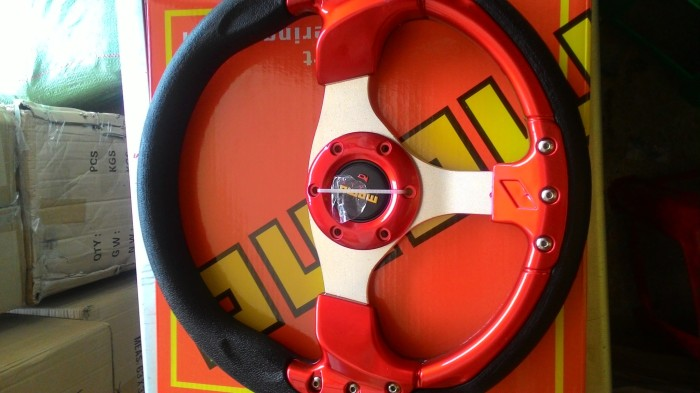 "harga Stir racing momo 13""merah Tokopedia.com"