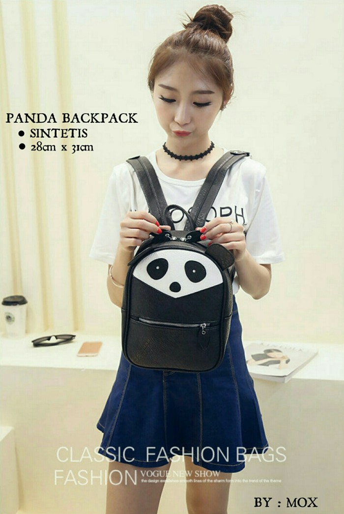 harga Tas wanita murah panda backpack Tokopedia.com