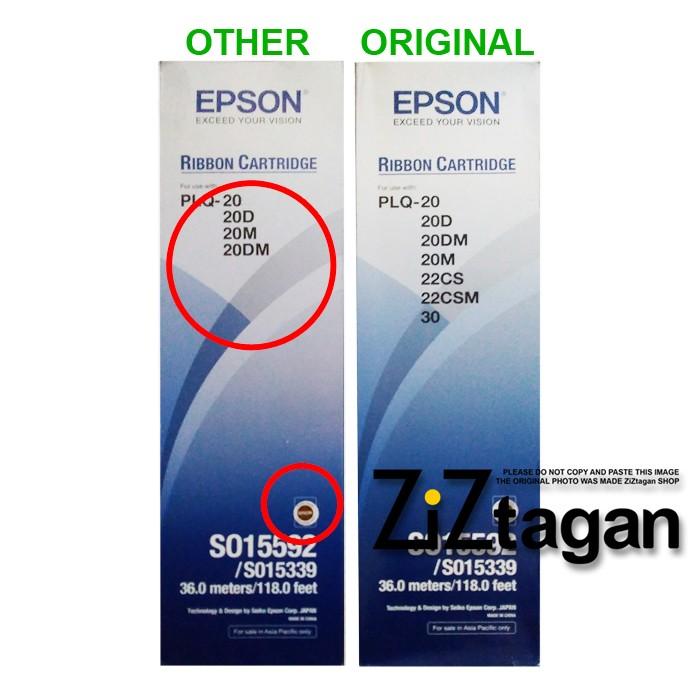 RIBBON CATRIDGE PLQ-20 EPSON PLQ 20 Pita Passbook Printer Segel Asli