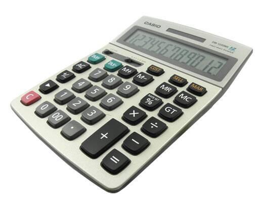 Casio dm-1200 - kalkulator meja kantor office dm1200