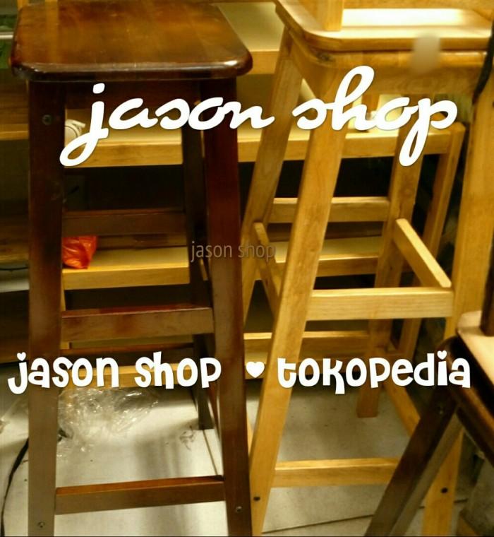 harga Kursi kayu tinggi/bangku bakso kayu tinggi/kursi tangga Tokopedia.com