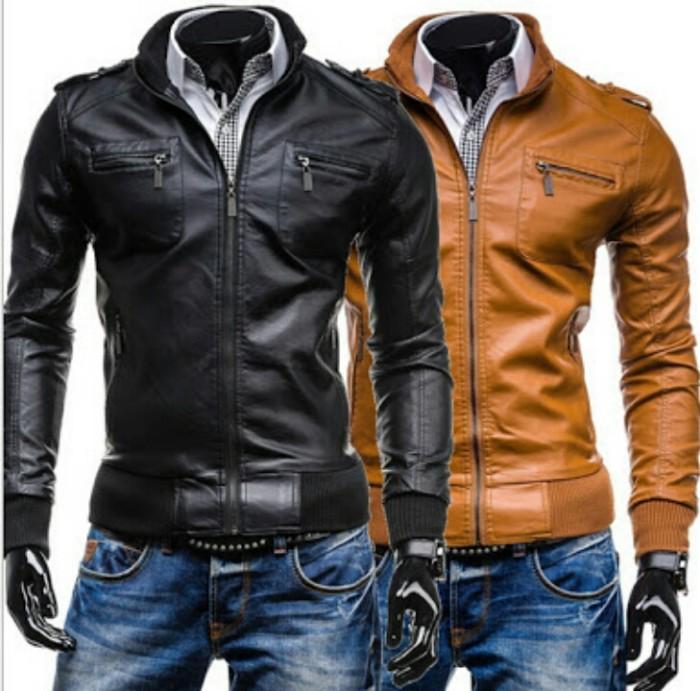 harga Jaket kulit sintetis,jaket pria,jaket kulit asli garut, jaket motor Tokopedia.com