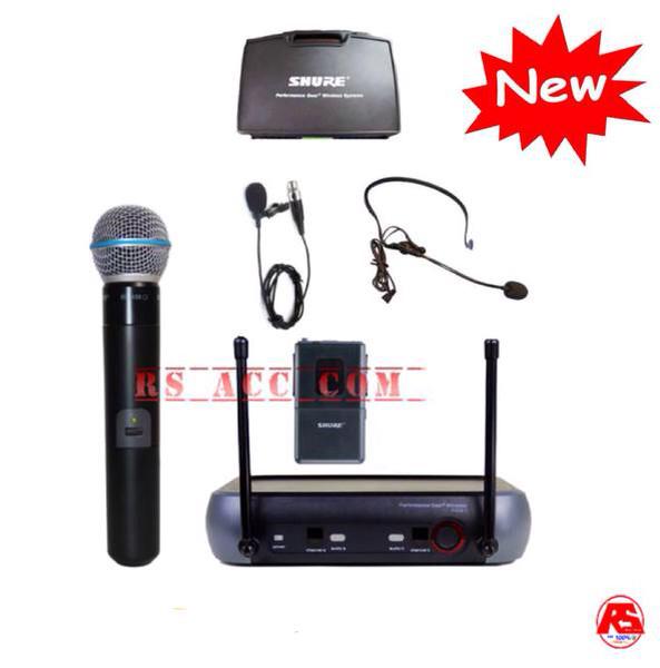 harga Murah !!! mic wireless shure pgx 242 ( pegang + clip on + headset ) Tokopedia.com