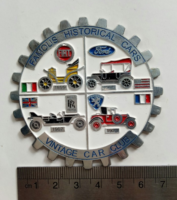 harga Italy vintage car club famous historical  badge fiat peugeot roll roy Tokopedia.com